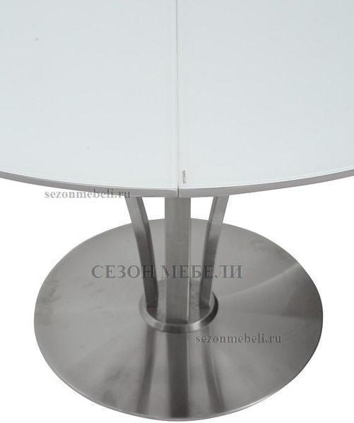 Стол KANSAS D120 WHITE MATT GLASS белый матовый (фото, вид 4)