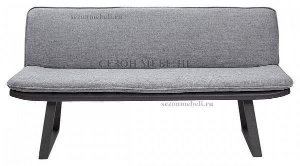 Скамья MALDEN GREY, ткань + экокожа (фото, вид 2)