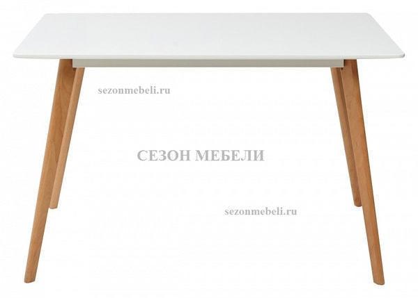 Стол ABELE 120 белый/массив бука (фото, вид 1)