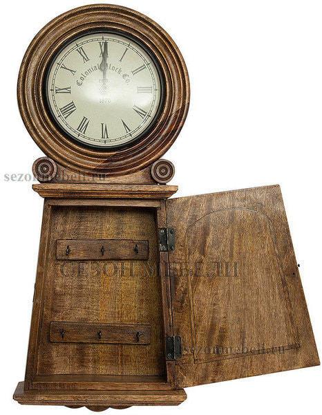 Часы колониальные с ключницей C-2632 (фото, вид 1)