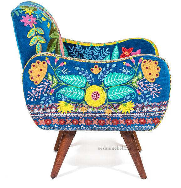 Кресло Sondrio (blue/green) (фото, вид 2)