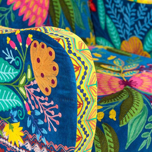 Кресло Sondrio (blue/green) (фото, вид 4)