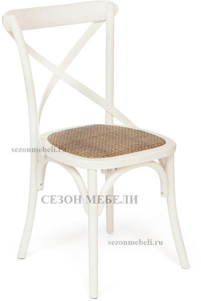 Стул Cross Chair (mod.CB2001) Белый/ Черный (фото, вид 1)