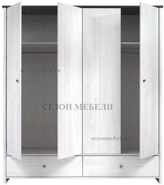Шкаф платяной Порто SZF4D2S (фото, вид 2)