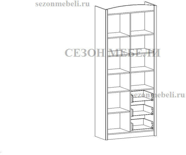 Шкаф комбинированный Салерно REG3D3S (фото, вид 1)