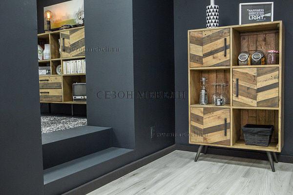 Шкаф книжный Largo (mod. LAR L04В) (фото, вид 10)