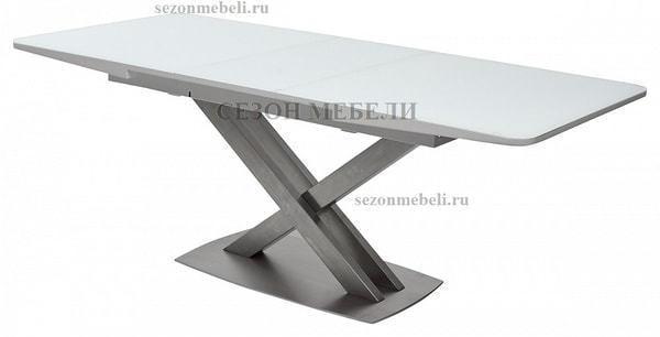 Стол CAROLINA 140 WHITE матовое стекло (фото, вид 2)