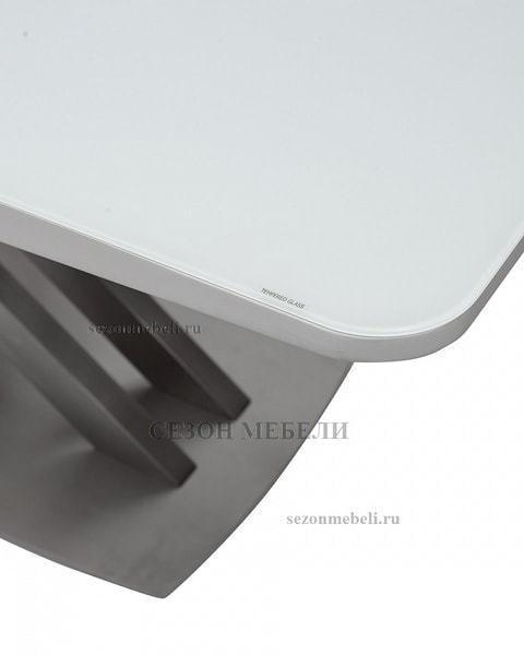 Стол CAROLINA 140 WHITE матовое стекло (фото, вид 3)