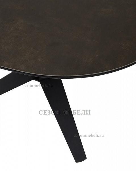 Стол ILLINOIS 110 SPANISH CERAMIC DARK GREY серый матовый (фото, вид 4)
