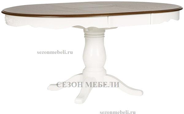 Стол Parisa (PA-T6EX) Ivory white+Antique pine (фото, вид 1)