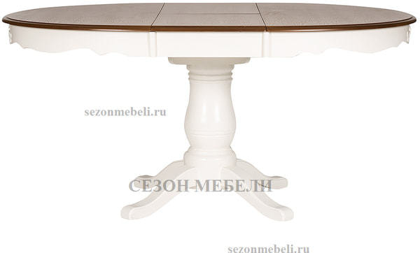 Стол Parisa (PA-T6EX) Ivory white+Antique pine (фото, вид 2)
