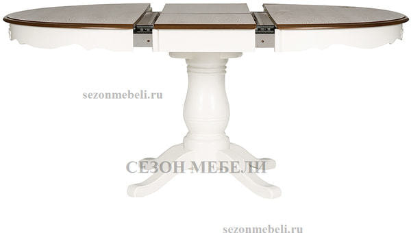 Стол Parisa (PA-T6EX) Ivory white+Antique pine (фото, вид 3)