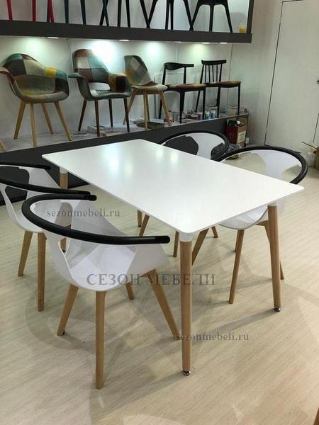 Стол TANSY 140 белый/массив бука (фото, вид 1)
