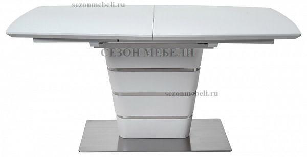 Стол CONCEPT 160 WHITE MATT GLASS матовый белый (фото, вид 1)