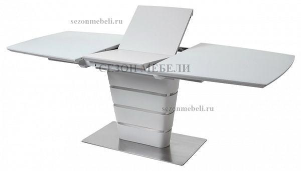 Стол CONCEPT 160 WHITE MATT GLASS матовый белый (фото, вид 3)