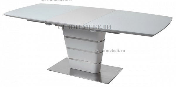 Стол CONCEPT 160 WHITE MATT GLASS матовый белый (фото, вид 4)