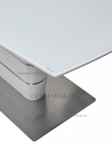 Стол CONCEPT 160 WHITE MATT GLASS матовый белый (фото, вид 5)
