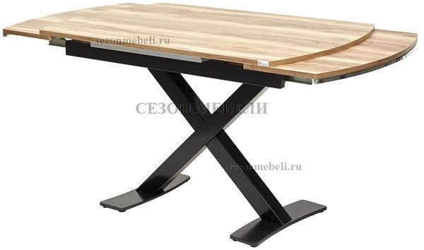 Стол KRIS TROPIC 120 см орех / черный (фото, вид 3)