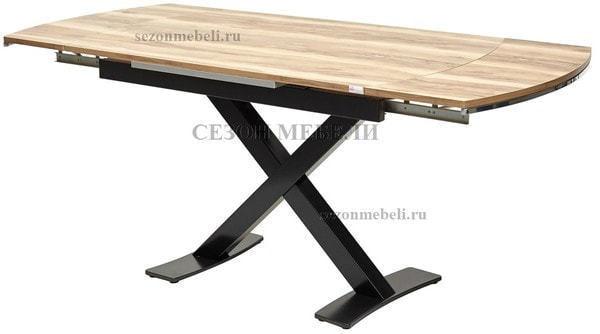Стол KRIS TROPIC 120 см орех / черный (фото, вид 4)