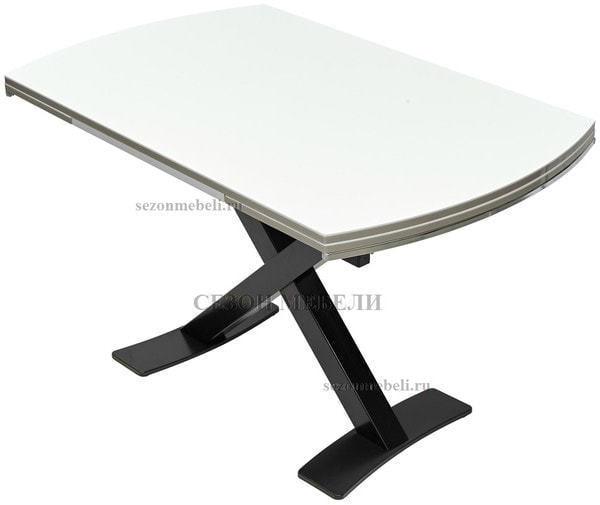 Стол KRIS BL 120 см белый / черный (фото, вид 1)
