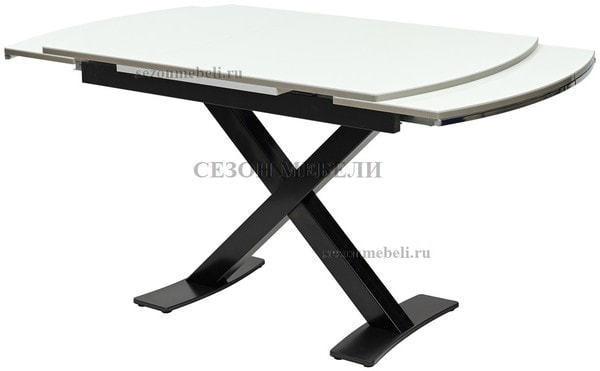 Стол KRIS BL 120 см белый / черный (фото, вид 2)