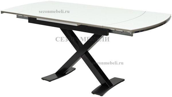 Стол KRIS BL 120 см белый / черный (фото, вид 3)
