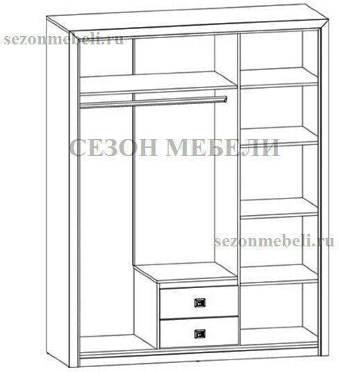 Шкаф Коен SZF3D2S венге магия/ штрокс темный (фото, вид 3)