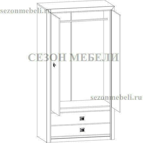 Шкаф Коен SZF2D2S венге магия/ штрокс темный (фото, вид 2)