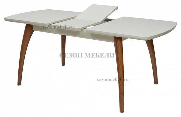 Стол MERCAN белый/ орех 120 см (фото, вид 1)