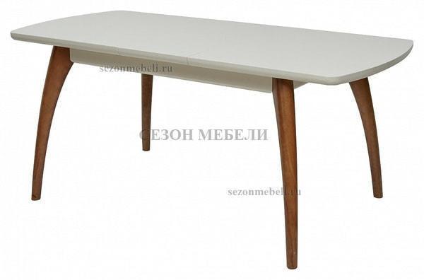 Стол MERCAN белый/ орех 120 см (фото, вид 2)