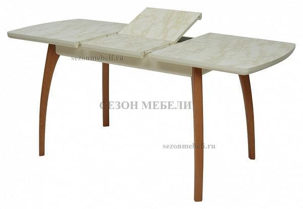 Стол VIZYON крем/ орех 140 см (фото, вид 1)
