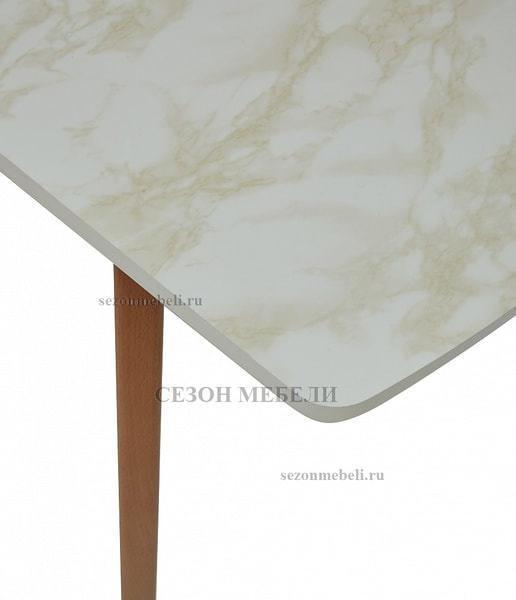 Стол VIZYON крем/ орех 140 см (фото, вид 4)