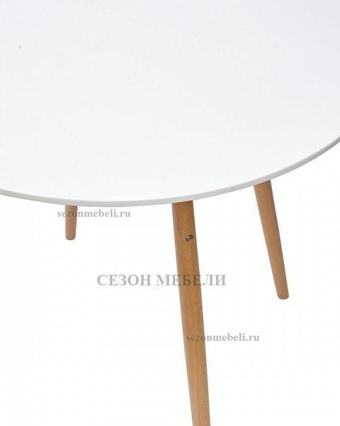 Стол CLIDE D90 белый/массив бука (фото, вид 1)