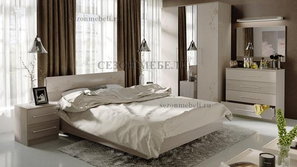 Кровать двуспальная Мишель (фото, вид 1)