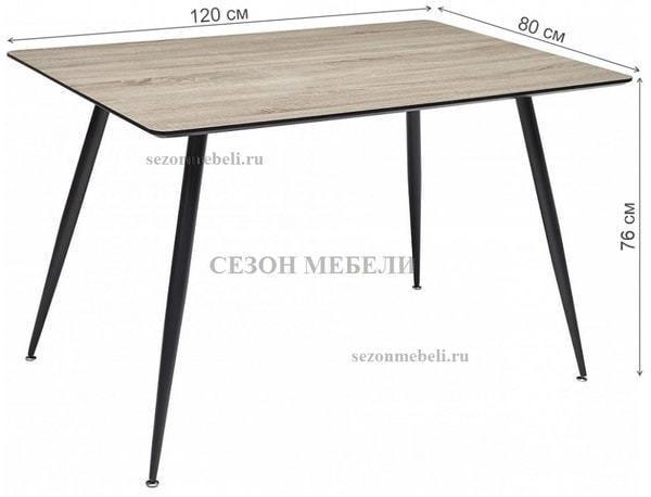 Стол WOOD43 #4 дуб серо-коричневый (фото, вид 1)