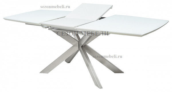 Стол CRYSTAL 160 WHITE MATT GLASS (фото, вид 2)