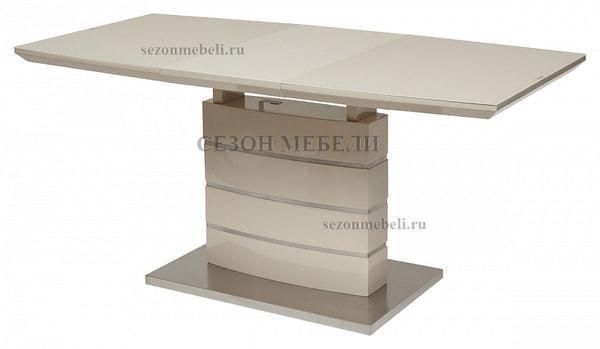 Стол DOVER 120 Бежевый, матовое стекло (фото, вид 1)