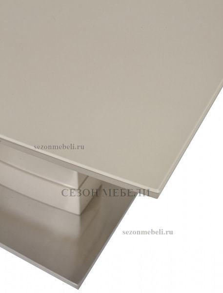 Стол DOVER 120 Бежевый, матовое стекло (фото, вид 3)