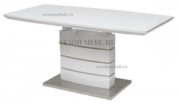 Стол DOVER 120 Белый, матовое стекло (фото, вид 1)