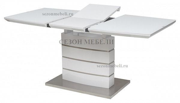 Стол DOVER 120 Белый, матовое стекло (фото, вид 2)