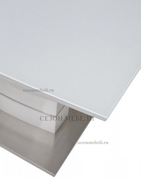 Стол DOVER 120 Белый, матовое стекло (фото, вид 3)