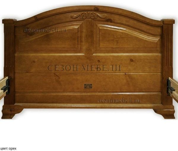 Кровать Леонсия с резьбой (фото, вид 4)