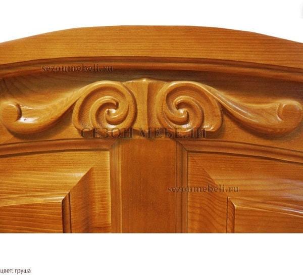 Кровать Леонсия с резьбой (фото, вид 7)