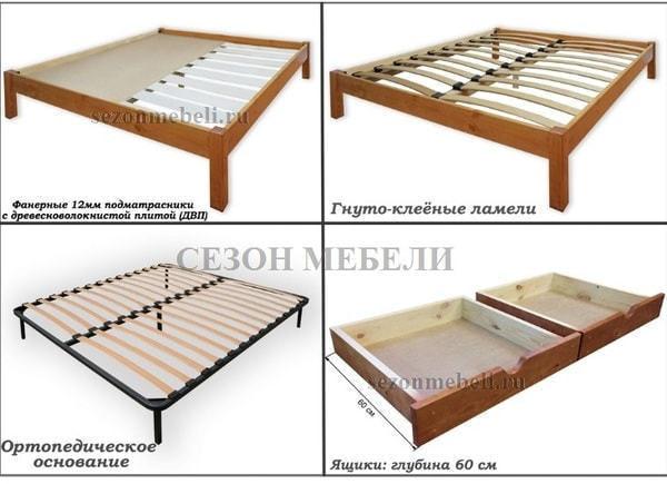 Кровать Леонсия с резьбой (фото, вид 9)