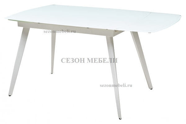 Стол ELIOT 120 FROSTED SUPER WHITE белое матовое стекло/ белый каркас (фото, вид 2)