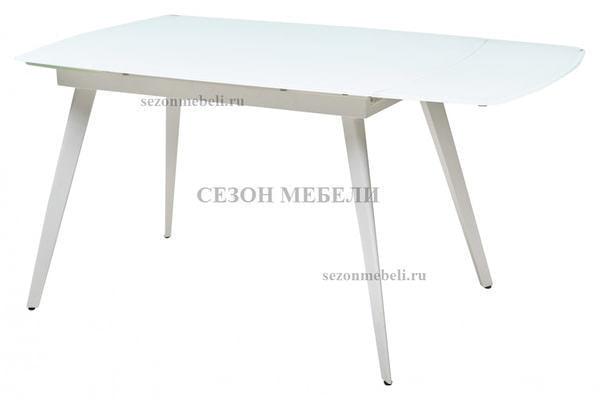 Стол ELIOT 120 FROSTED SUPER WHITE белое матовое стекло/ белый каркас (фото, вид 2)