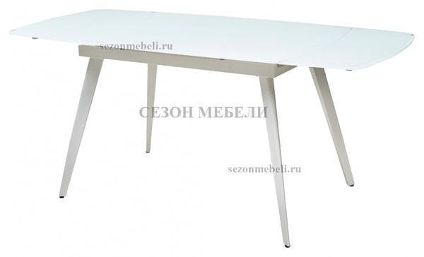 Стол ELIOT 120 FROSTED SUPER WHITE белое матовое стекло/ белый каркас (фото, вид 3)