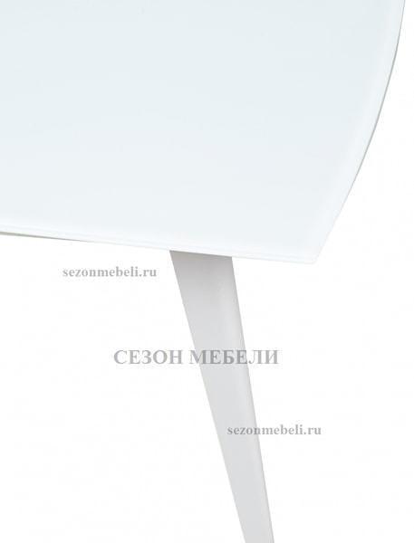 Стол ELIOT 120 FROSTED SUPER WHITE белое матовое стекло/ белый каркас (фото, вид 4)