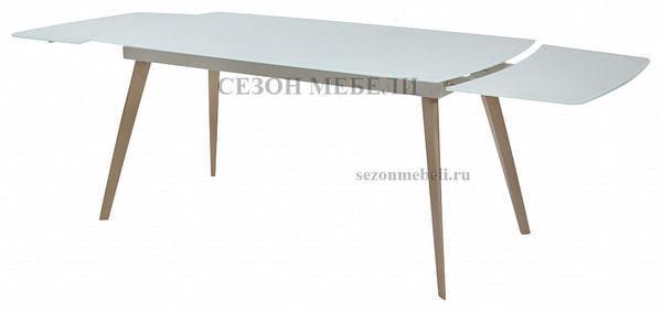 Стол ELIOT 140 Super white glass+Wood (фото, вид 2)