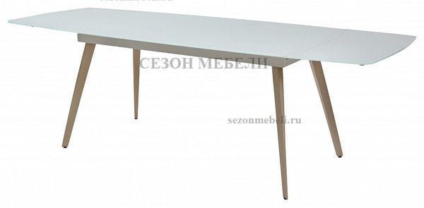 Стол ELIOT 140 Super white glass+Wood (фото, вид 3)